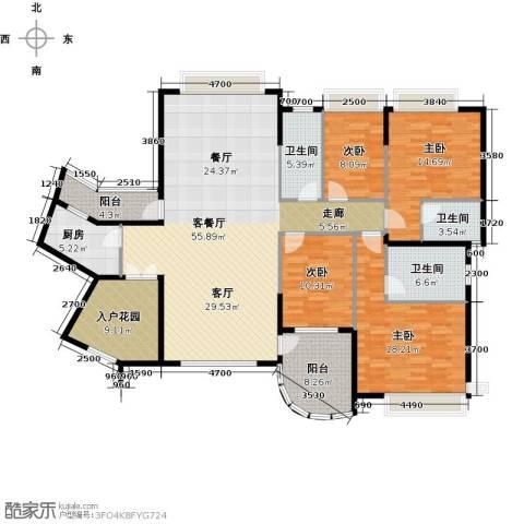 海琴湾4室1厅3卫1厨149.63㎡户型图