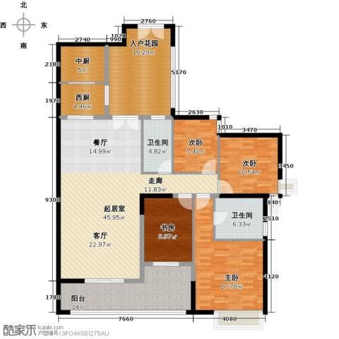 君华香柏广场4室0厅2卫0厨159.00㎡户型图