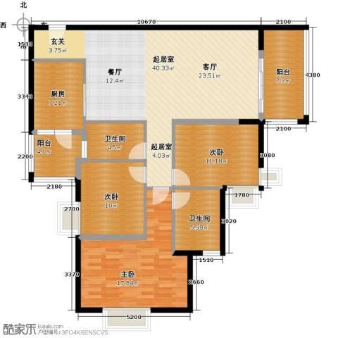 滨江水恋3室0厅2卫1厨122.00㎡户型图