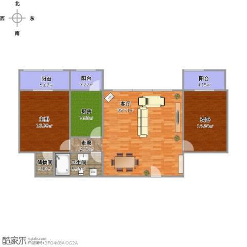 福方里2室1厅1卫1厨133.00㎡户型图