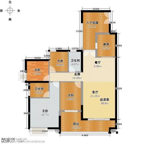 君华香柏广场4室0厅2卫1厨134.00㎡户型图