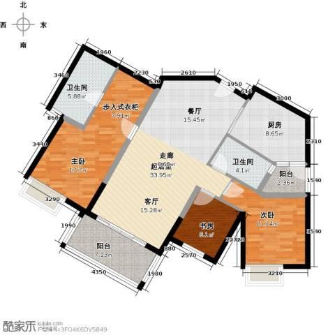 滨江水恋3室0厅2卫1厨110.00㎡户型图