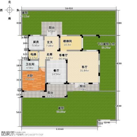 金地湖山大境1室1厅1卫1厨296.19㎡户型图