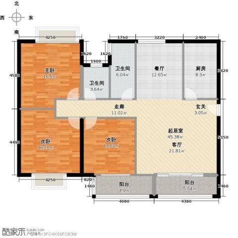御东和府3室0厅2卫1厨135.00㎡户型图