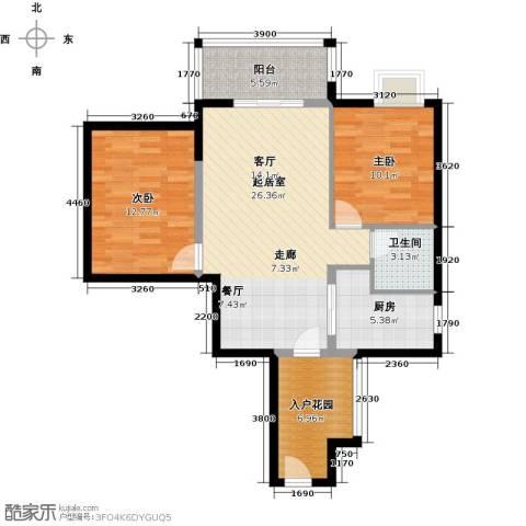滨江水恋2室0厅1卫1厨80.00㎡户型图
