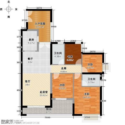 君华香柏广场4室0厅2卫1厨135.00㎡户型图