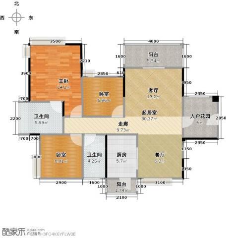 广源松湖春天1室0厅2卫1厨100.00㎡户型图