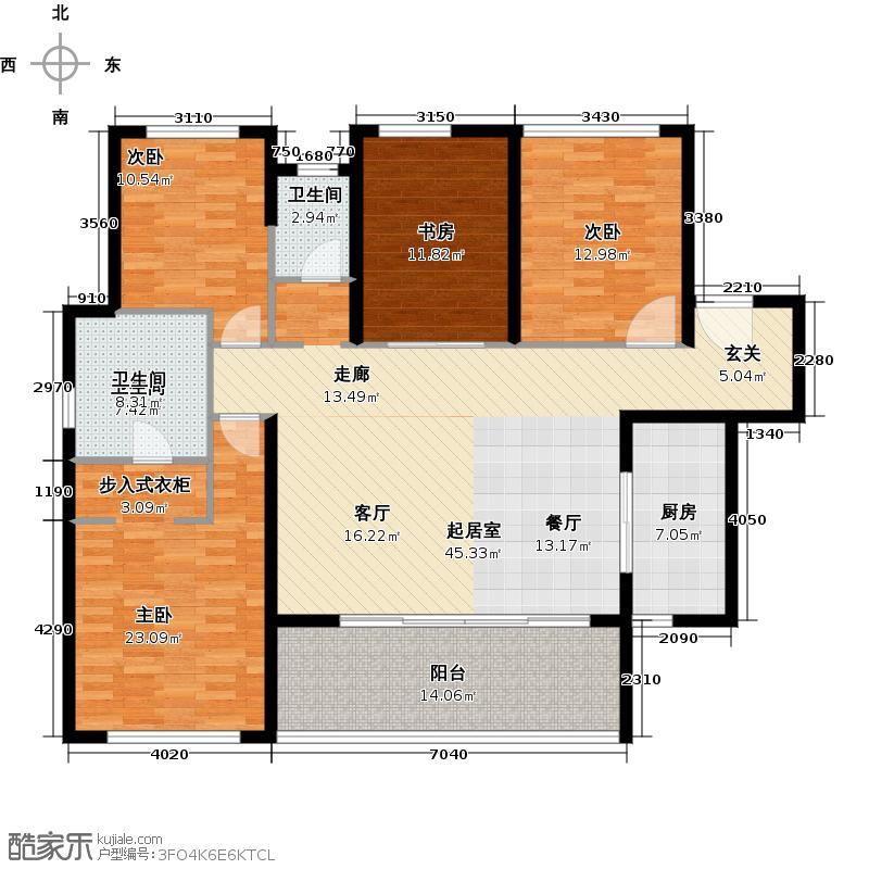 万科金域华府三期149.00㎡1-5号楼标准层03户型3室2卫1厨