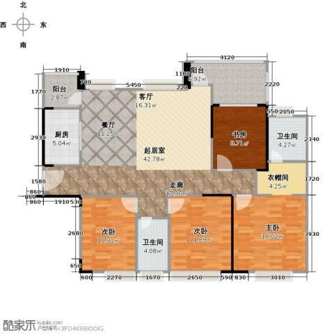 中信凯旋国际4室0厅2卫1厨155.00㎡户型图