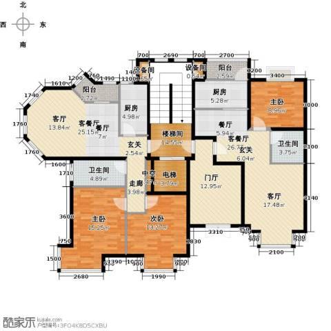 润泽悦溪3室2厅2卫2厨146.56㎡户型图