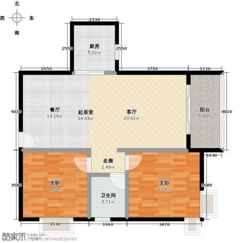 星云轩2室0厅1卫1厨81.00㎡户型图