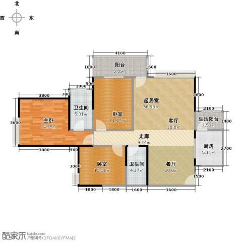 广源松湖春天1室0厅2卫1厨97.00㎡户型图