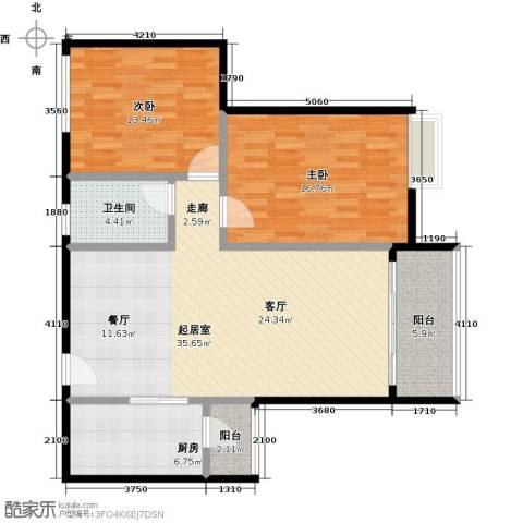 星云轩2室0厅1卫1厨95.00㎡户型图