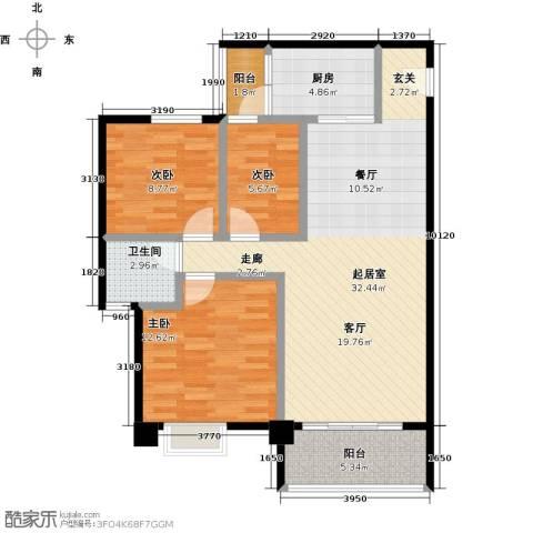 星云轩3室0厅1卫1厨95.00㎡户型图