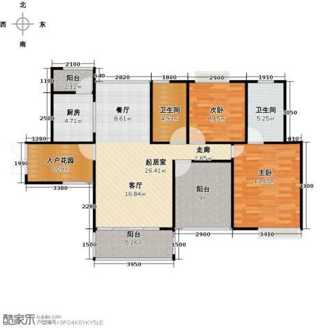 香樟1号2室0厅2卫1厨116.00㎡户型图