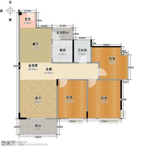 广源松湖春天1卫1厨89.00㎡户型图