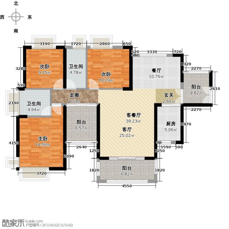 保利未来城市138.00㎡3/5栋01户型3室1厅2卫1厨