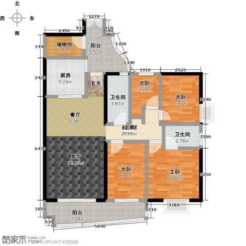 翠屏・瀚宇贵都二期4室0厅2卫1厨135.00㎡户型图
