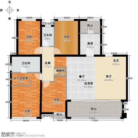 万科金域华府三期4室0厅2卫1厨167.00㎡户型图