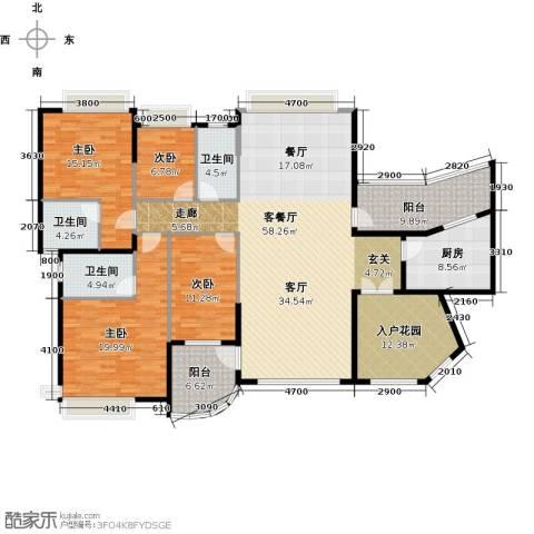 海琴湾4室1厅3卫1厨162.60㎡户型图