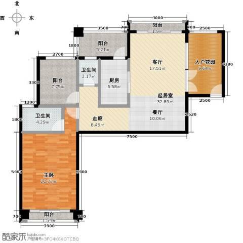 金海岸花园二期1室0厅2卫1厨109.00㎡户型图