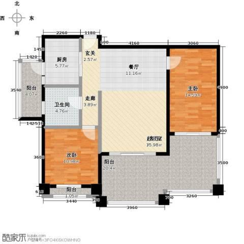 金海岸花园二期2室0厅1卫1厨106.00㎡户型图