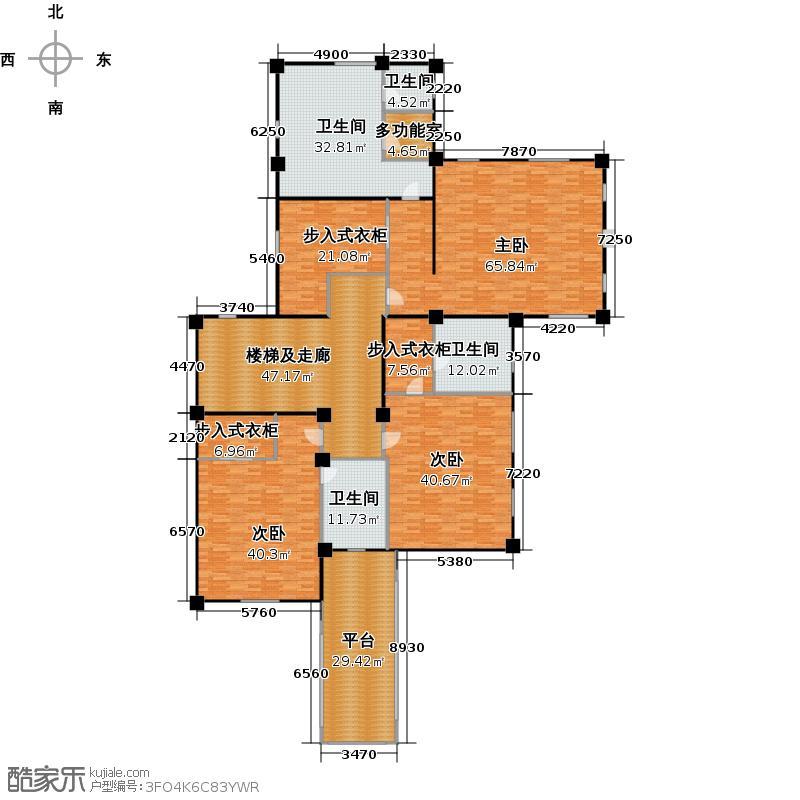 绿城曼陀花园344.00㎡S4二层户型2室2厅2卫