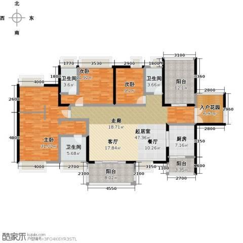 鼎峰尚境3室0厅3卫1厨183.00㎡户型图