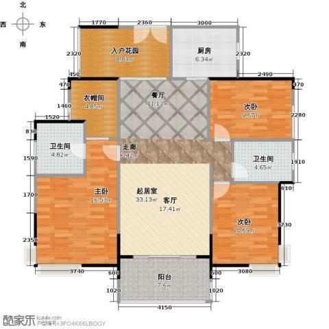 中信凯旋国际3室0厅2卫1厨144.00㎡户型图