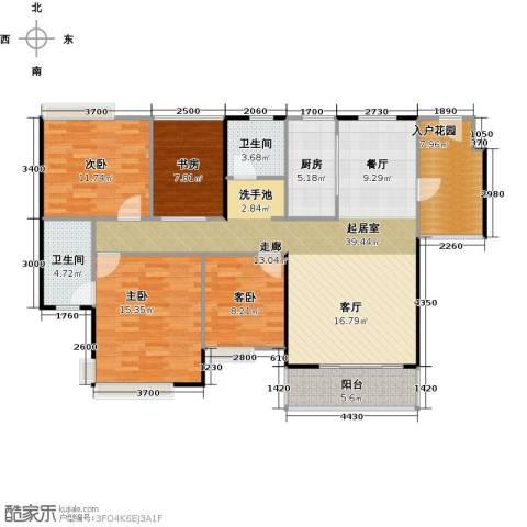 御庭苑4室0厅2卫1厨148.00㎡户型图
