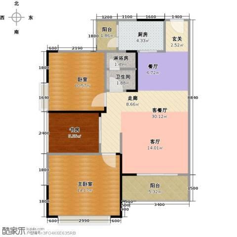 中惠香樟半岛1室1厅1卫1厨82.00㎡户型图
