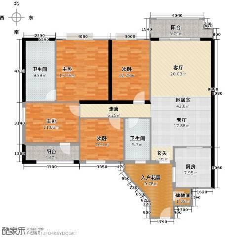 石竹山水园4期4室0厅2卫1厨194.00㎡户型图