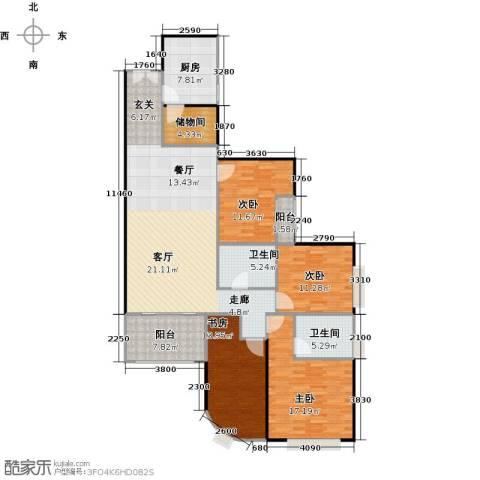 东山紫园商业4室0厅2卫1厨152.00㎡户型图