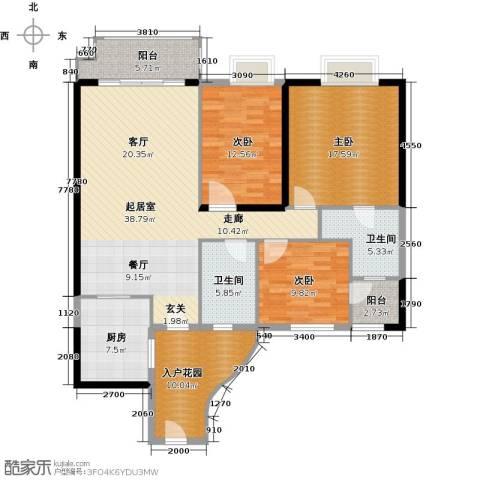 石竹山水园4期3室0厅2卫1厨161.00㎡户型图