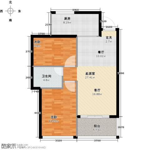 尚书悦府2室0厅1卫1厨76.00㎡户型图