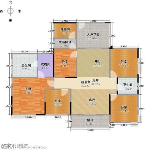 广源松湖春天1室0厅2卫0厨150.00㎡户型图