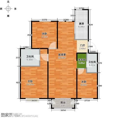 顶秀美泉小镇3室0厅2卫1厨115.00㎡户型图