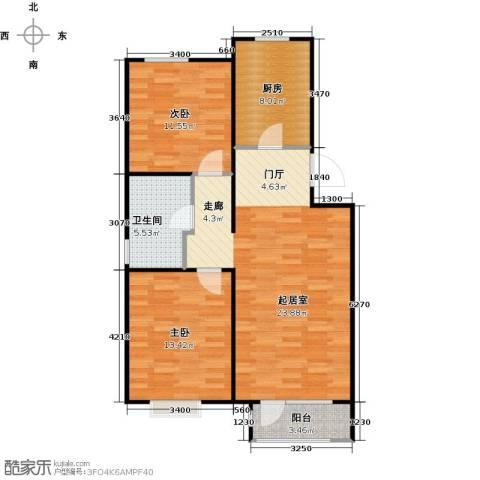 顶秀美泉小镇2室0厅1卫1厨88.00㎡户型图