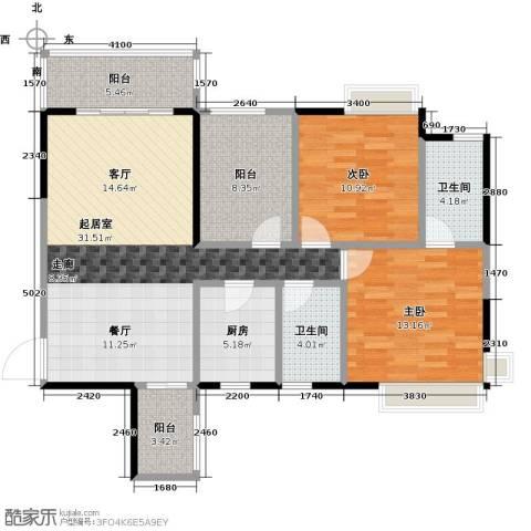 富山居花园2室0厅2卫1厨100.00㎡户型图