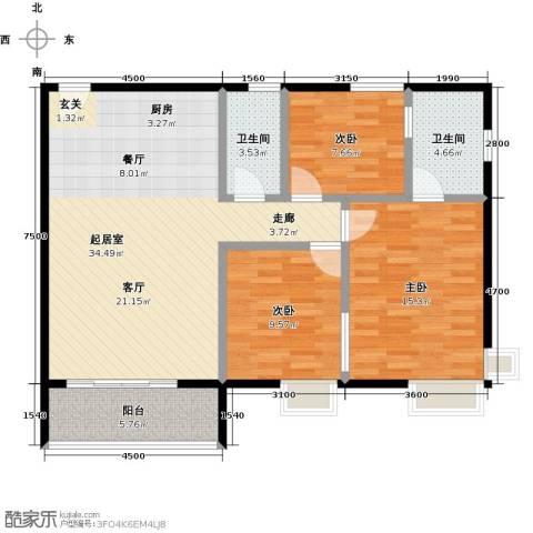 星云轩3室0厅2卫0厨121.00㎡户型图