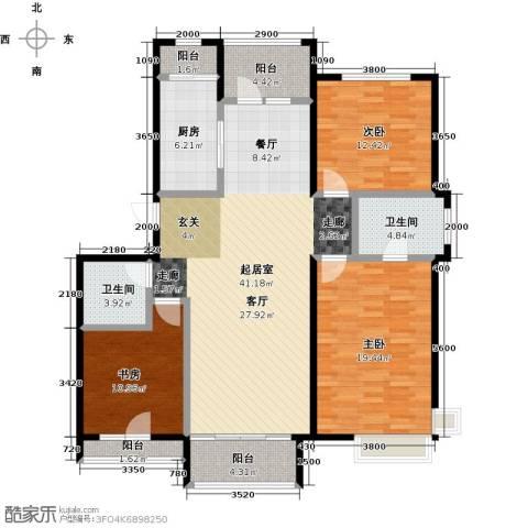 领秀慧谷3室0厅2卫1厨141.00㎡户型图