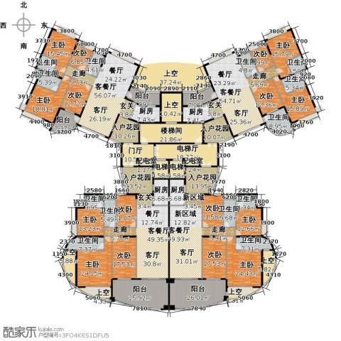 海琴湾9室4厅9卫4厨1048.00㎡户型图