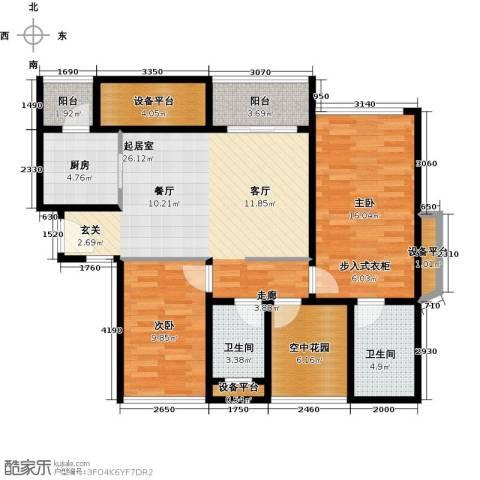 金达锦绣东方2室0厅2卫1厨99.00㎡户型图