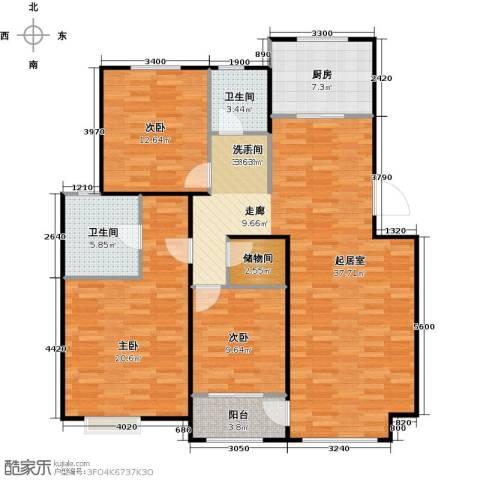 顶秀美泉小镇3室0厅2卫1厨131.00㎡户型图