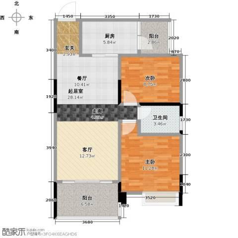 盈拓郦苑2室0厅1卫1厨94.00㎡户型图