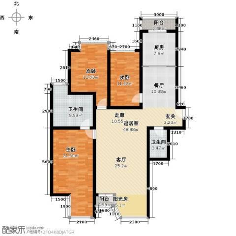 合生・滨江帝景3室0厅2卫1厨154.00㎡户型图