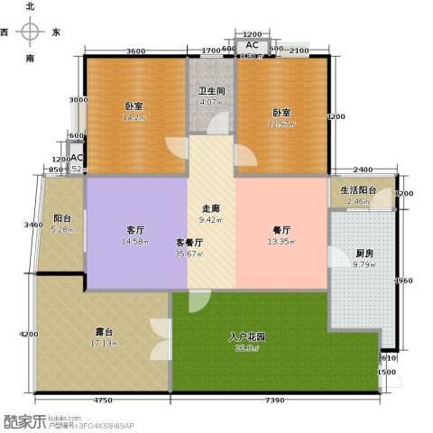 富康花园1厅1卫1厨133.71㎡户型图
