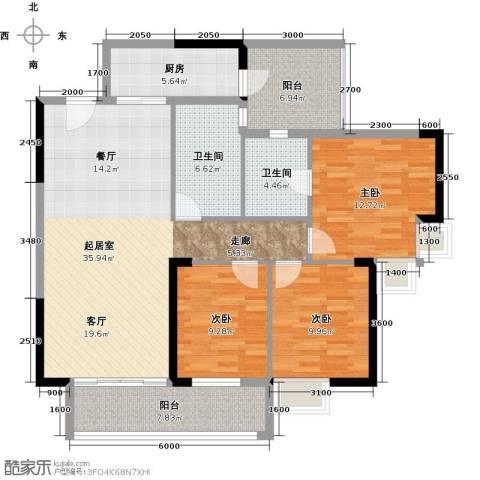 力迅T3室0厅2卫1厨113.00㎡户型图