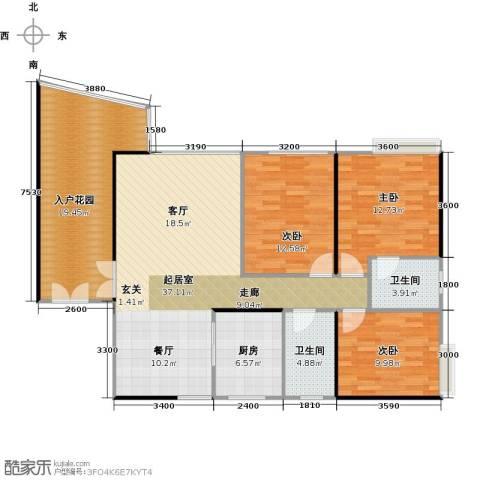 御庭苑3室0厅2卫1厨144.00㎡户型图