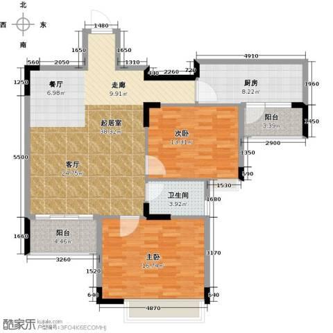 三正世纪豪庭2室0厅1卫1厨123.00㎡户型图